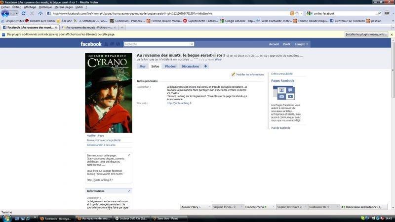 au royaume des muets sur facebook dans vie du blog muette